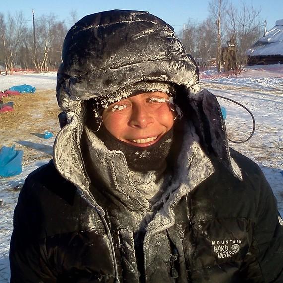Dans le grand nord canadien avec mes huskies pour le Rire Médecin!