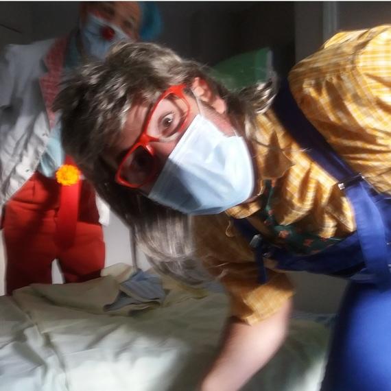 Mon fils à l'hôpital avec les clowns