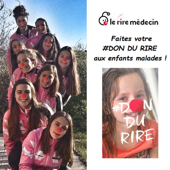 Les filles du Triathlon Toulouse Métropole se mobilisent pour Le Rire Médecin.