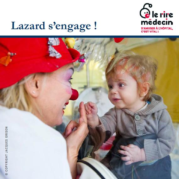 Lazard S'Engage - collecte pour Le Rire Médecin